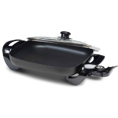 Elite Gourmet Black 15 In. x 12 In. 1300W Electric Skillet