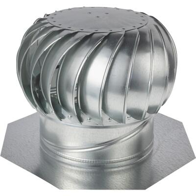 "Ventamatic Cool Attic 12"" Galvanized Steel Mill Wind Turbine Attic Vent"