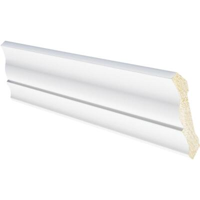 Inteplast Building Products 1/2 In. W. x 3-3/16 In. H. x 8 Ft. L. Crystal White Polystyrene Crown Molding