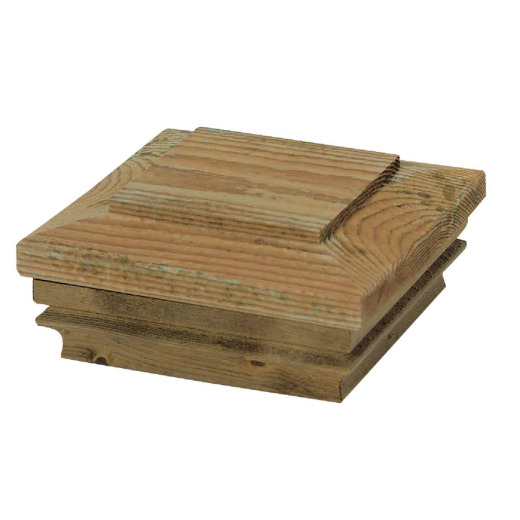 Deckorators 4 In. x 4 In. Pressure-Treated Pine Press-On Post Cap