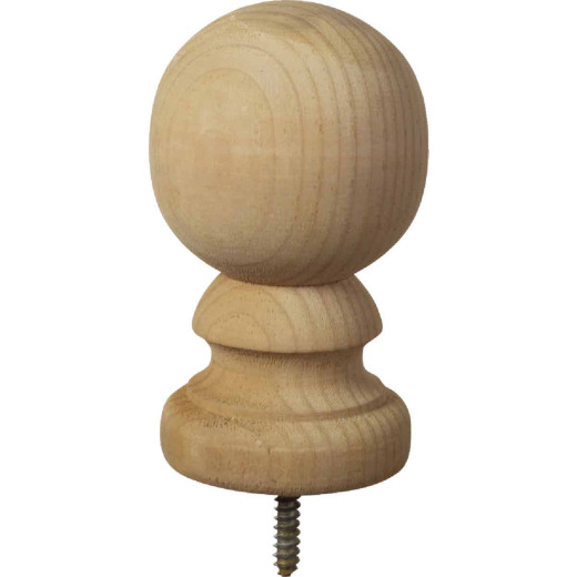 ProWood 3-9/16 In. x 5-3/8 In. Treated Wood Ball Top Natural Post Cap