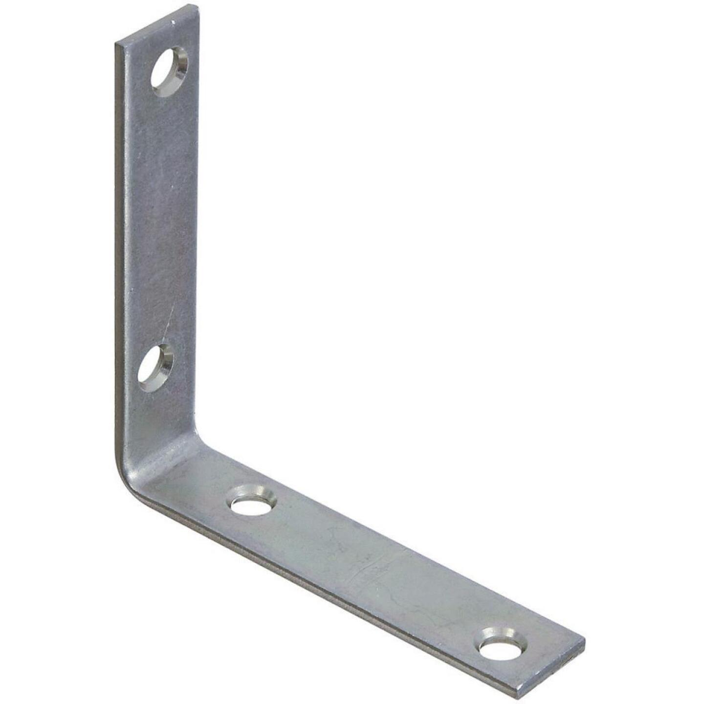 National Catalog V115 3-1/2 In. x 3/4 In. Zinc Steel Corner Brace (4-Count) Image 1