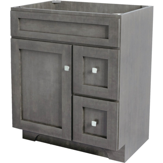 CraftMark St. Paul Designer Gray Stained 30 In. W x 34 In. H x 21 In. D Vanity Base, 1 Door/2 Drawer