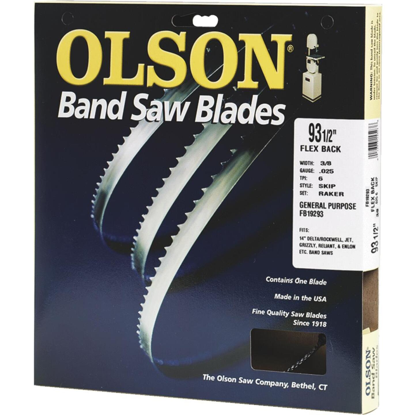 Olson 93-1/2 In. x 3/8 In. 4 TPI Skip Flex Back Band Saw Blade Image 1