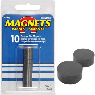 Master Magnetics 1/2 in. Ceramic Magnetic Disc (10-Pack)
