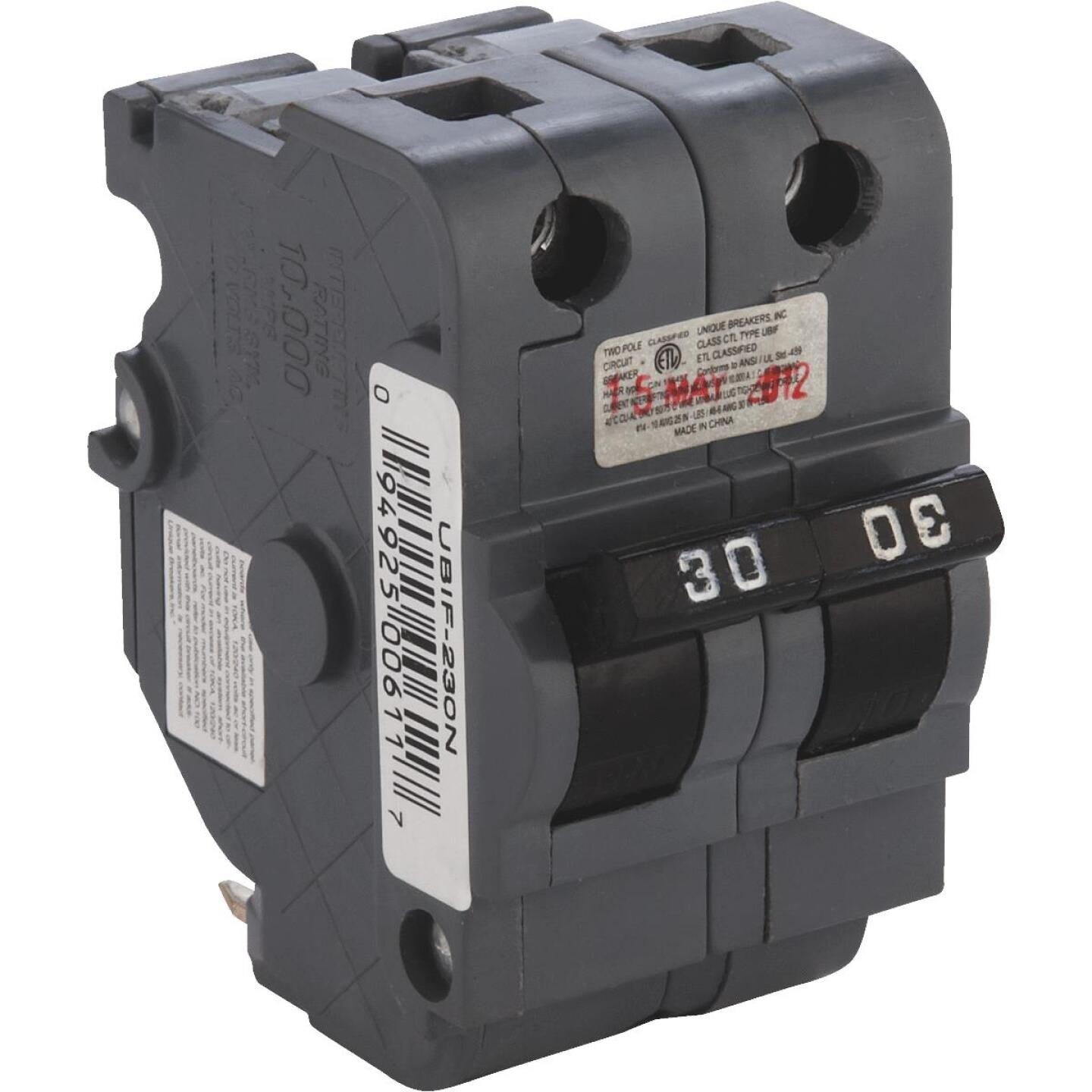 Connecticut Electric 30A Double-Pole Standard Trip Packaged Replacement Circuit Breaker For Federal Pacific Image 1