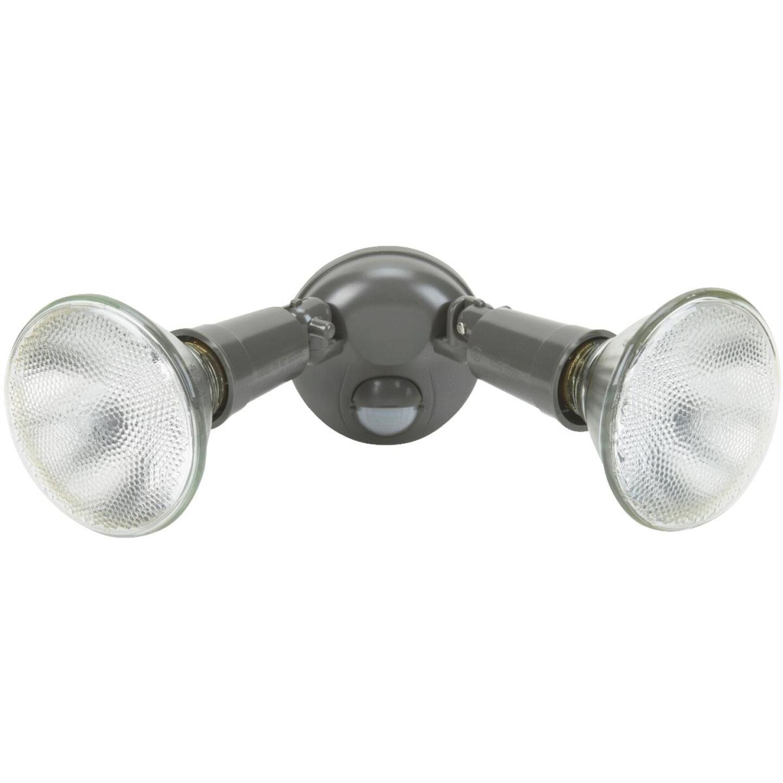 Bronze Motion Sensing Dusk To Dawn Incandescent Floodlight Fixture Image 1