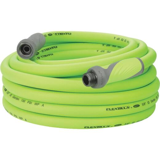 Flexzilla 5/8 In. Dia. x 50 Ft. L. Drinking Water Safe Garden Hose with SwivelGrip Connections