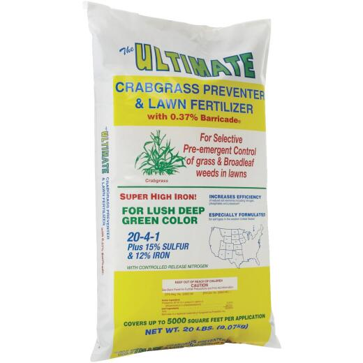 Ultimate 20 Lb. 5000 Sq. Ft. 20-4-1 Lawn Fertilizer with Crabgrass Preventer