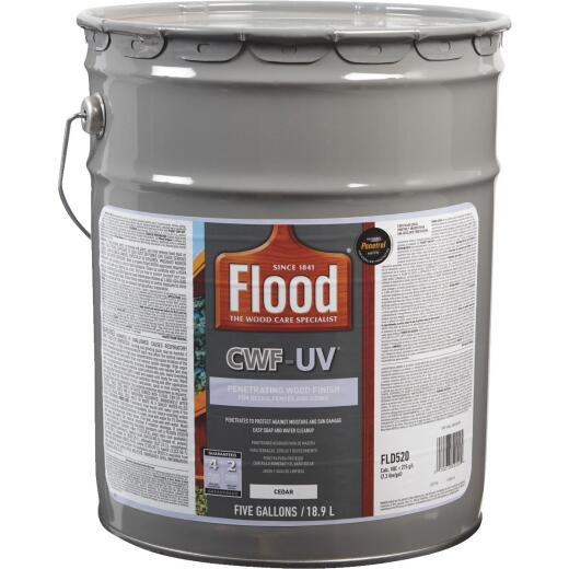 Flood CWF-UV Oil-Modified Fence Deck and Siding Wood Finish, Cedar, 5 Gal.