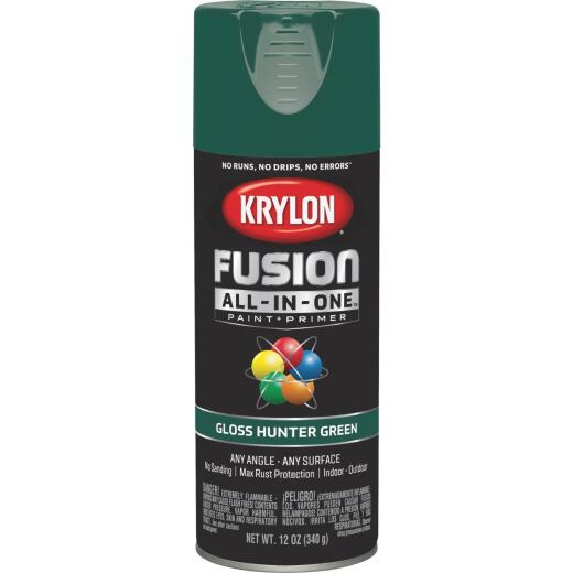 Krylon Fusion All-In-One Gloss Spray Paint & Primer, Hunter Green