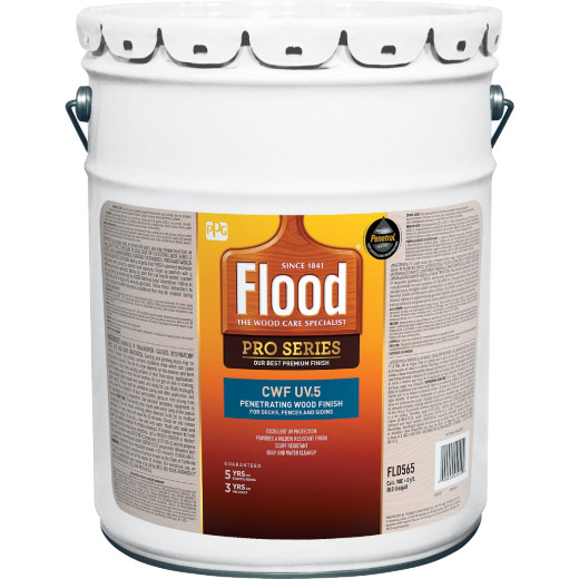 Flood CWF - UV5 Pro Series Wood Finish Exterior Stain, Natural, 5 Gal.