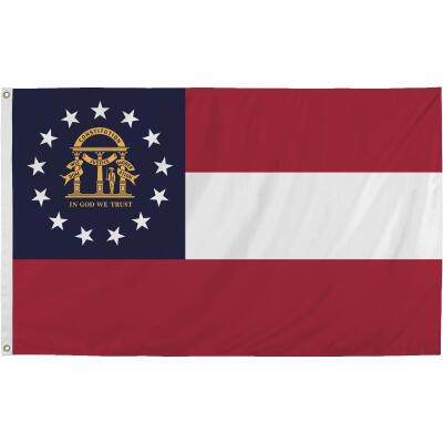 Valley Forge 3 Ft. x 5 Ft. Nylon Georgia State Flag