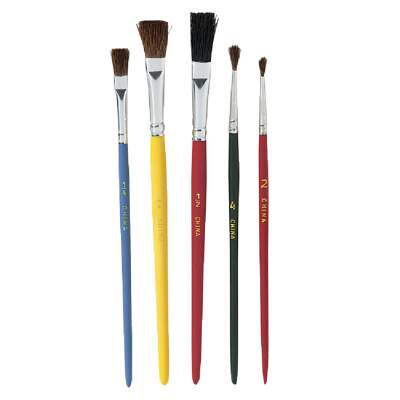 Duro Assorted Sizes And Assorted Bristle Material Artist Brush Set (5 Pieces)